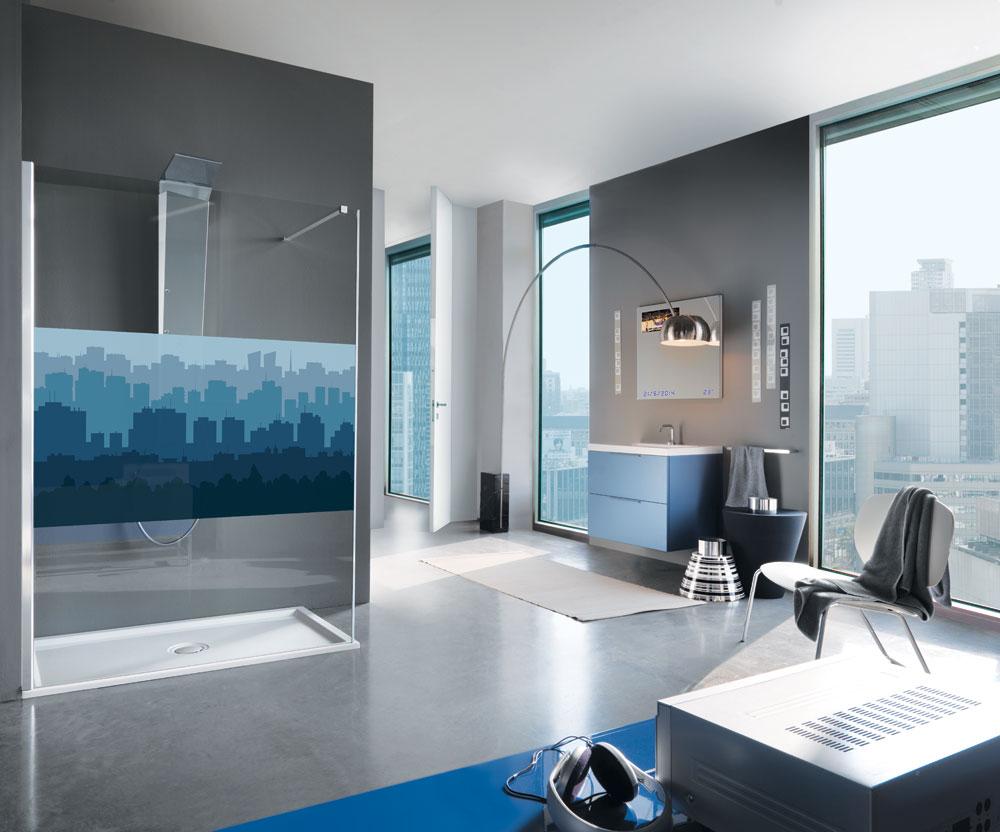 le bleu dans la salle de bains inspiration bain. Black Bedroom Furniture Sets. Home Design Ideas