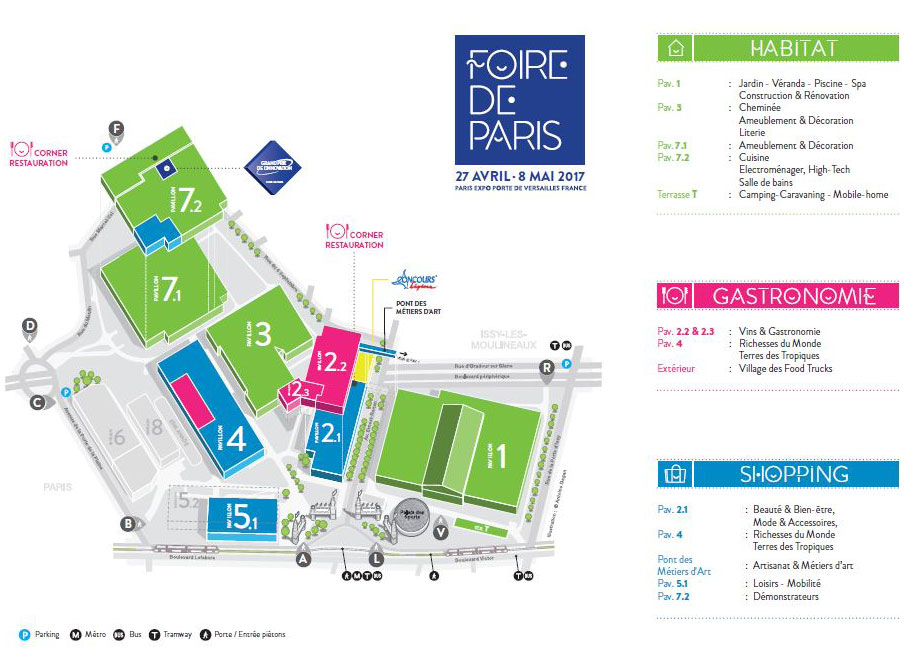 Foire de Paris 2017 : le plan