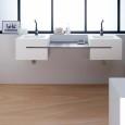 La vasque suspendue et cubique de Kramer design