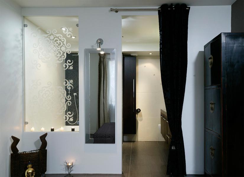 Conçue et réalisée par Les Bains d'Alexandre. Photos www.inspirationbain.com
