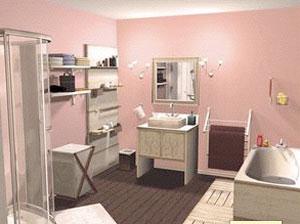 Plan 3D salle de bains - logiciel 3D plan salle de bains