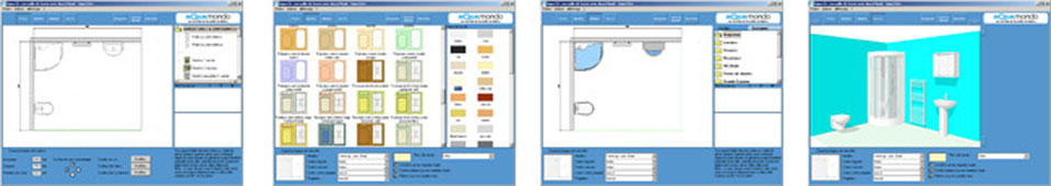 Plan 3D salle de bains - Aquamondo