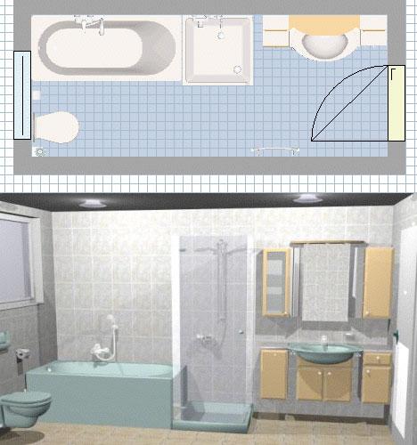 Plan 3D salle de bains - logiciel gratuit de salle de bains
