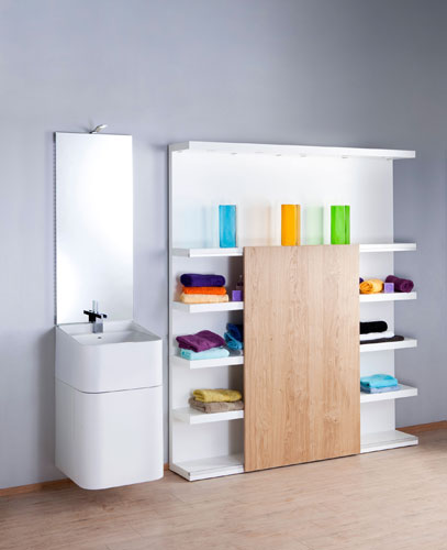 Light de Pyram, meubles de salle de bains, rangements de salle de bains