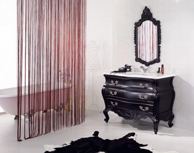 Collection Romantik de Valetis, salle de bains baroque, meubles de salle de bains