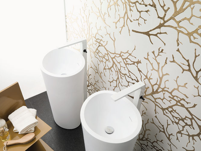 Carrelage mural de Porcelanosa, revêtement mural, carrelage de salle de bains
