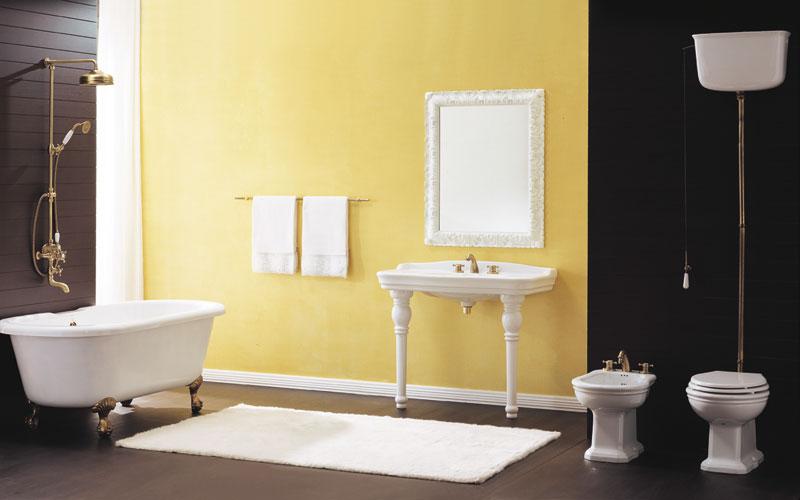 Victorian de Huber, salle de bains baroque, meubles de salle de bains, robinets de salle de bains, robinets rétro