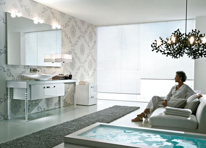 Deko d'Idea Group, salle de bains baroque, meubles de salle de bains