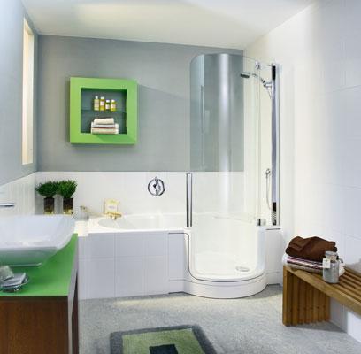 Twin-line d'Artweger, douche, baignoire-douche, combiné douche-baignoire