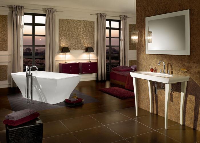 La Belle et la Rose de Villeroy & Boch, salle de bains baroque, meubles de salle de bains