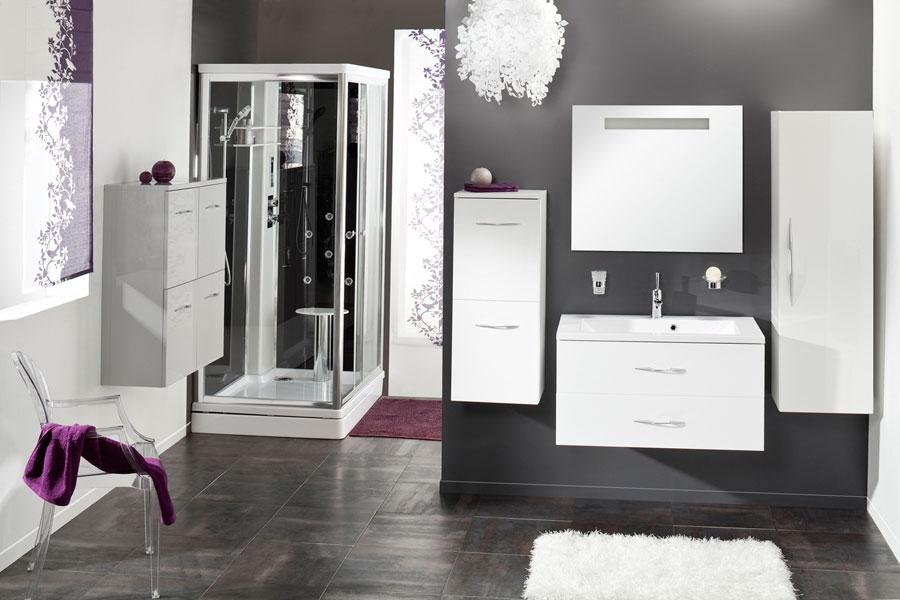 Collection Zodiac d'Aquarine, meubles de salle de bains, salle de bains blanche