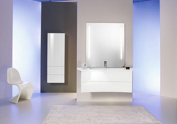 Elana de Burgbab, meubles de salle de bains, salle de bains blanche