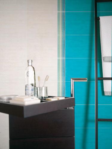 Collection Coup d'éclat de Cerabati, carrelage de salle de bains, salle de bains de couleurs