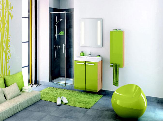 Collection Delphy, modèle studio 60 de Delpha, meubles de salle de bains, salle de bains de couleur