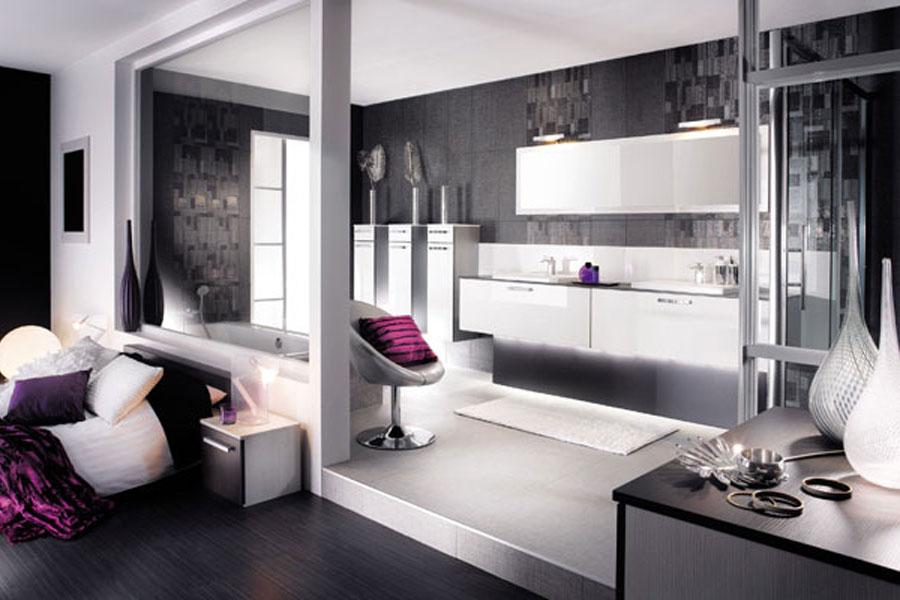 Modèle Palma de Mobalpa, meubles de salle de bains, salle de bains blanche