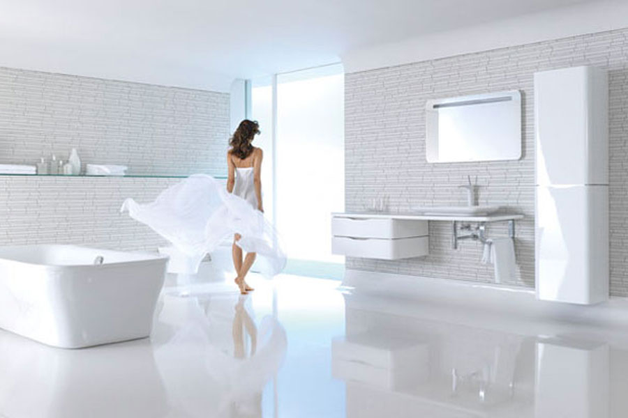 Pura Vida de Duravit, meubles de salle de bains, salle de bains blanche
