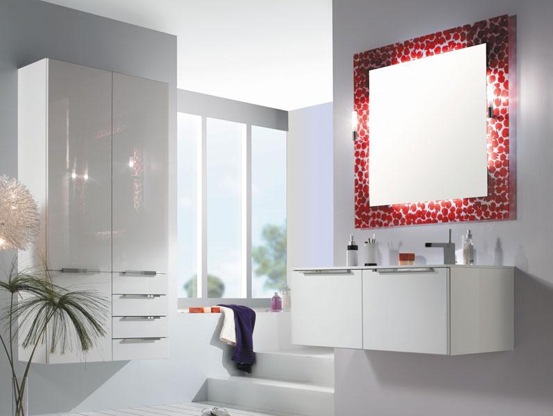 Coprah de Pyram, meubles de salle de bains, salle de bains blanche