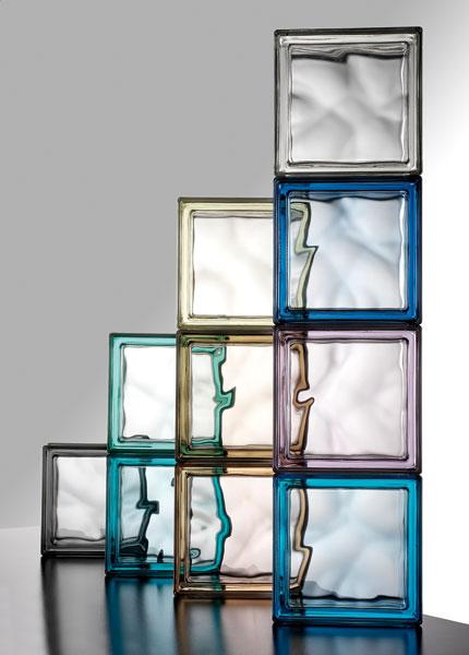 Pegasus chez Saverbat, brique de verre, verre dans la salle de bains