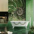 La mosaïque dans la salle de bains