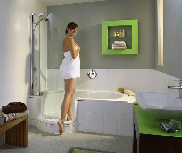 Twin:line d'Artweger-baignoire douche