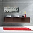 Des meubles suspendus pour une salle de bains chic