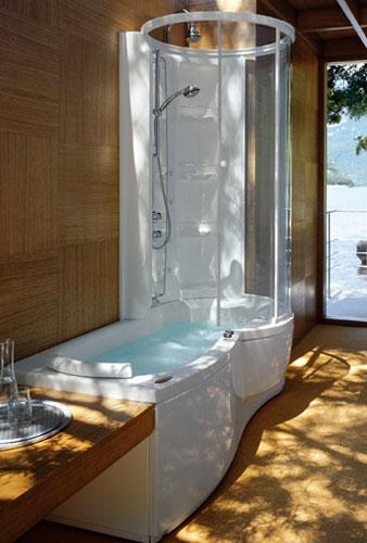 Combi J-Twin Premium de Jacuzzi-baignoire douche