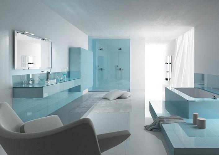 Wall d'Artelinea-salle de bains bleue