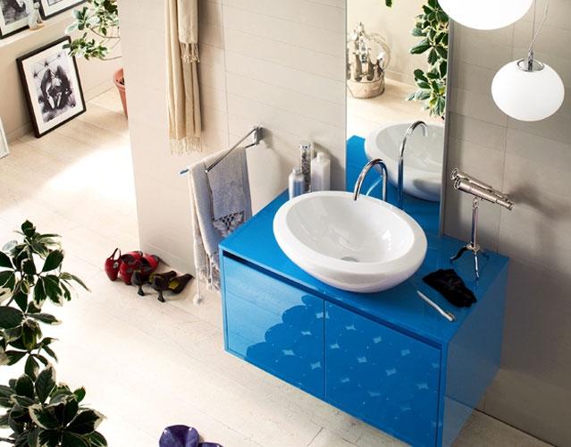 Gulliver Due d'Inda-salle de bains bleue