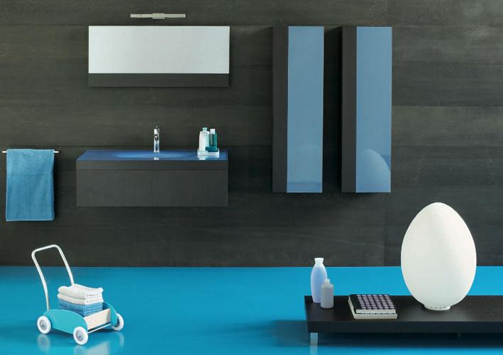 Plaza color de Regia-salle de bains bleue