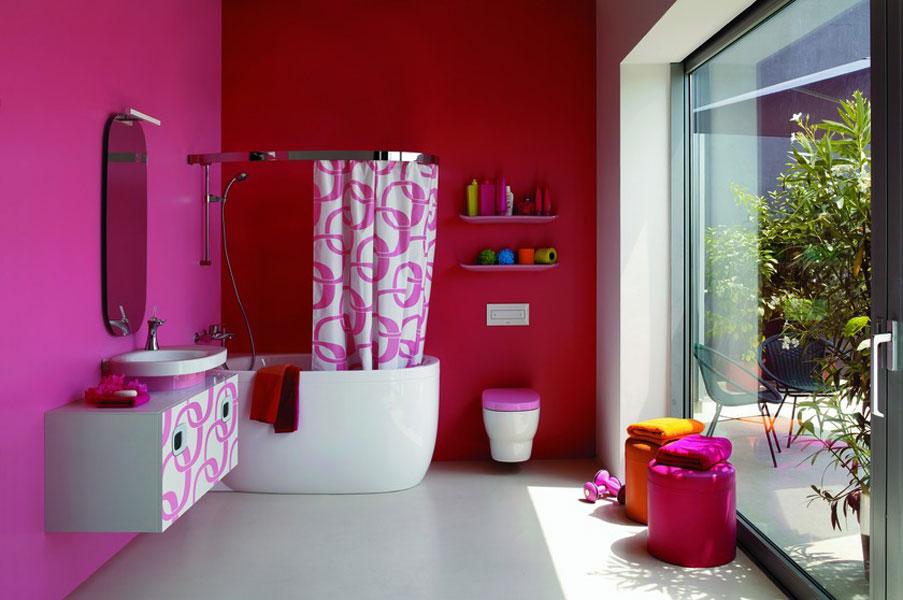 Mimo de Laufen-salle de bains colorée