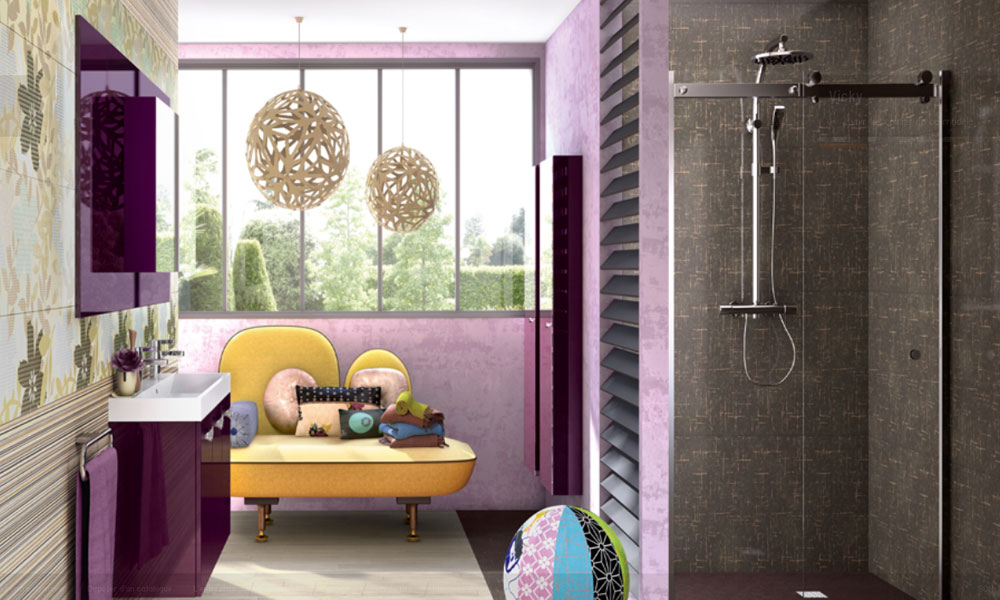 Vicky de Perene-salle de bains féminine