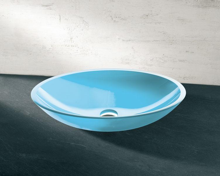 Vasque Elios de Decotec-salle de bains bleue