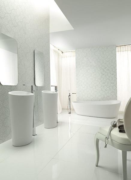 Vasques et baignoire Almond en Krion® Stone de Porcelanosa, Porcelanosa, Krion
