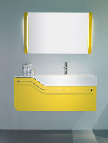Salle de bains jaune : Stocco