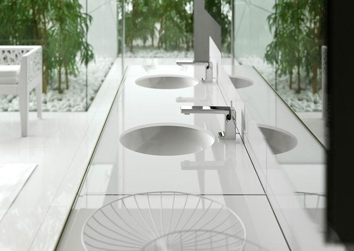 Salle de bains jaune : Artelinea