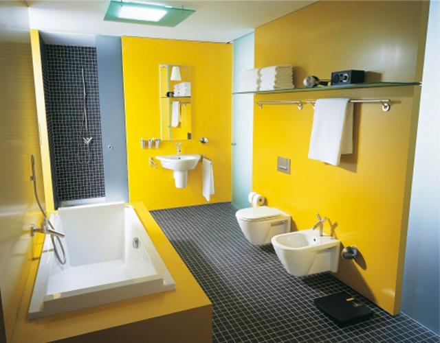Salle de bains jaune : Duravit
