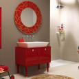 Inspiration : une salle de bains rouge