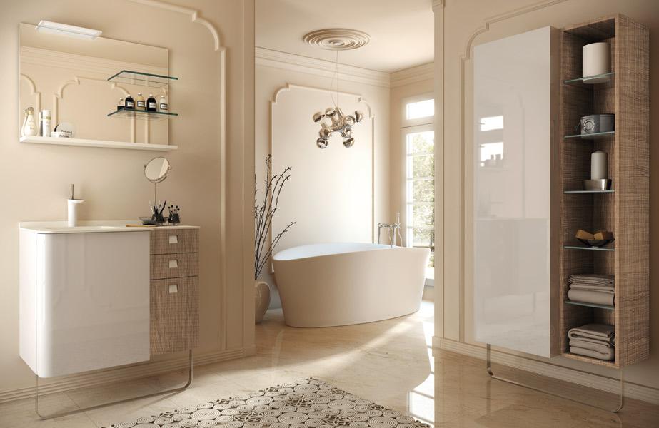 Salle de bains en bois : Pyram