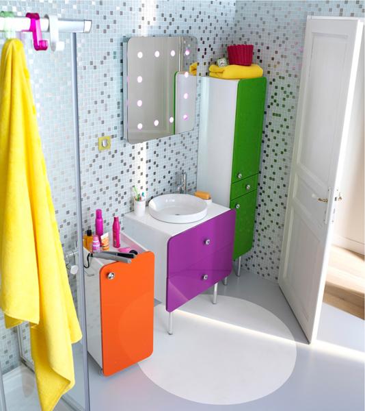Salle de bains sixties : Castorama