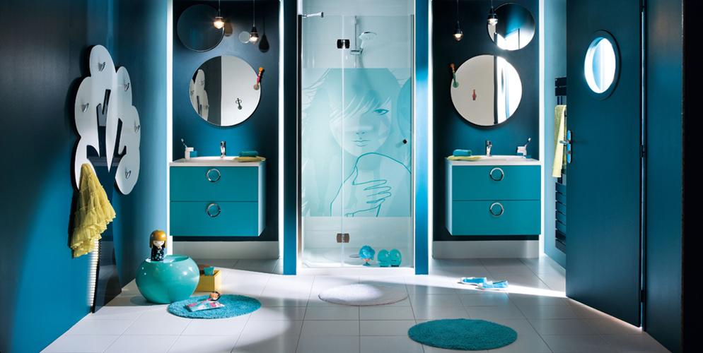 Salle de bains ados : modèle Osaka de Mobalpa